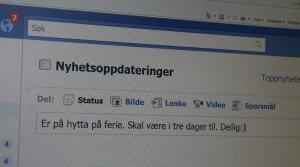 Det er ikke noe som tyder på at feriestatus på Facebook gir en økning i tyverier. (Ill. foto: Helene Aarnes).