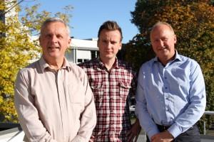 Hovedkontoret til Radonkjeden er i Oslo hvor daglig leder Karsten A. Fredriksen, markedskoordinator Morten Fredriksen og salgsdirektør Helge Jakobsen holder til. (Foto: Helene Aarnes).