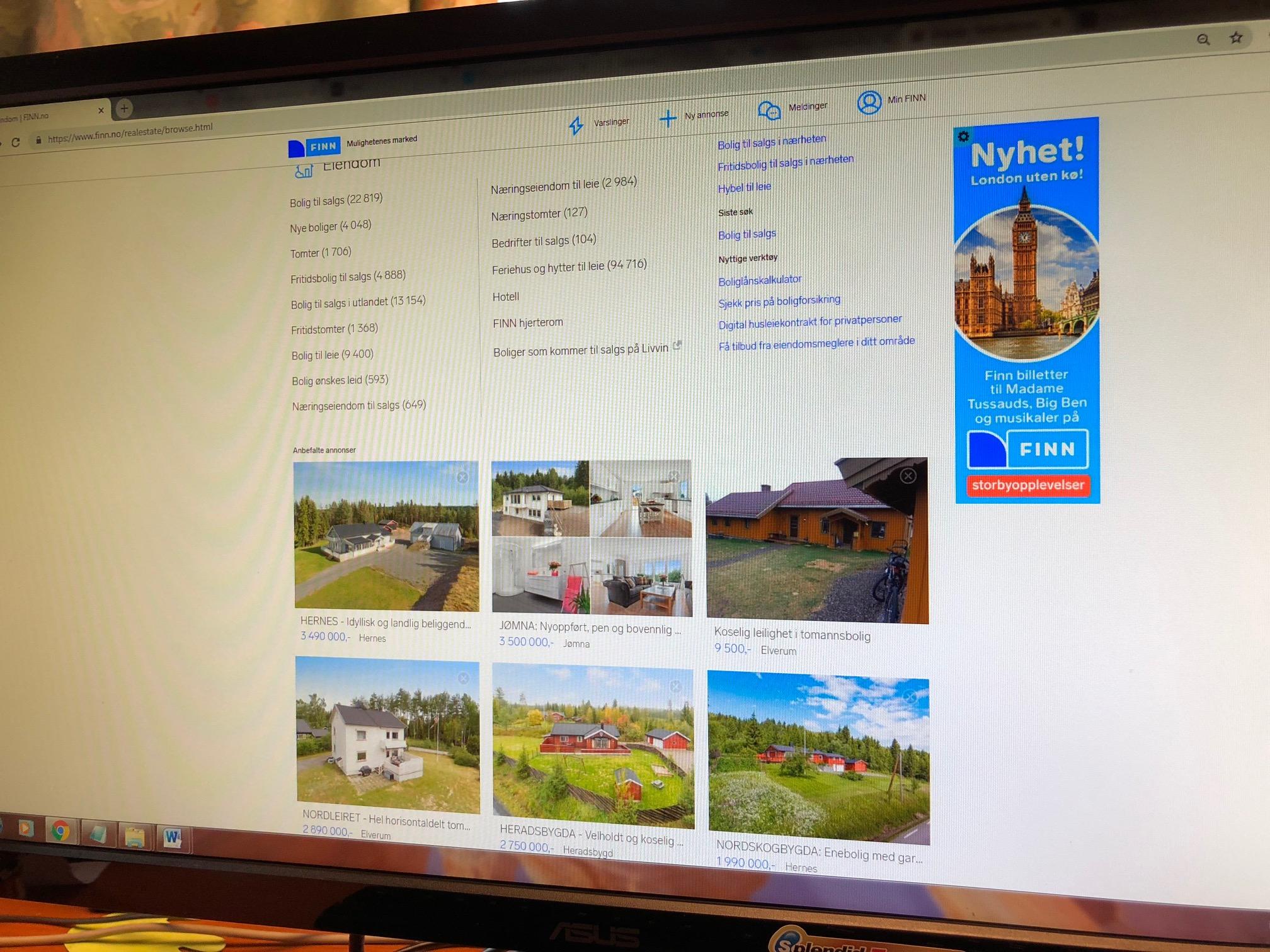 c8282f00 De nye boligannonsene på Finn skal gjøre det enklere for boligkjøper å  innhente all tilgjengelig informasjon om boligen. (Ill: skjermbilde finn .no).